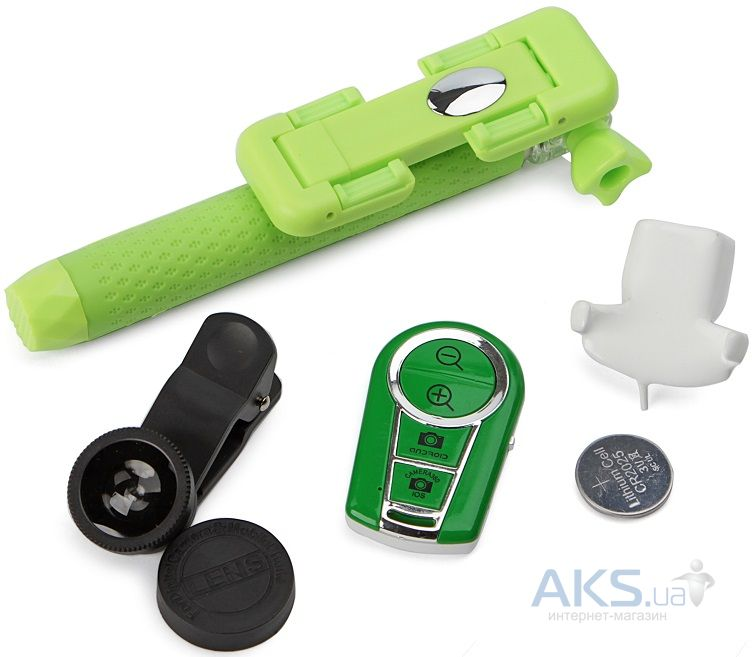 Монопод UFT SS15 ZOOM+Bluetooth 4 in 1 Green