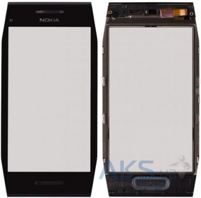 Сенсор (тачскрин) для Nokia X7-00 with frame Original Black