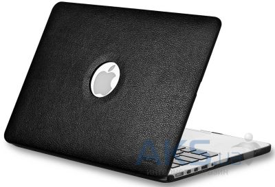 Чехол Kuzy Leather Case for MacBook Air 13 Black