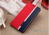 Вид 2 - Чехол Original Book Stripe Series Doogee Y300, Y300 Pro Black - Red