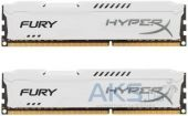 Оперативная память Kingston DDR3 16Gb (2x8GB) 1600 MHz HyperX Fury White (HX316C10FWK2/16)
