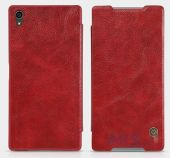 Вид 4 - Чехол Nillkin Qin Leather Series Sony Xperia Z5 Premium Red