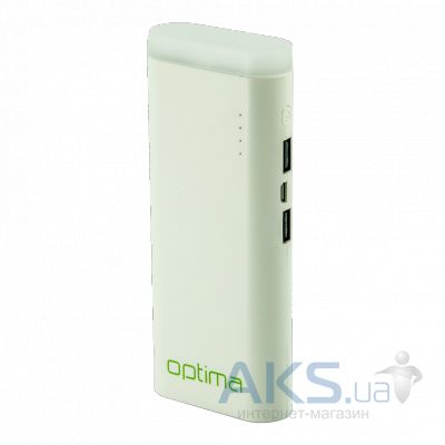 Повербанк power bank Optima LED 11000 mAh White