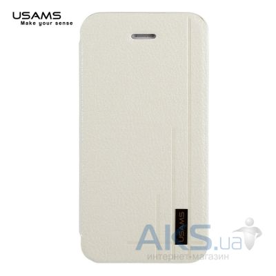 Чехол Usams Book case Starry Sky for Apple iPhone 4S White