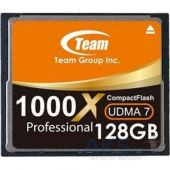 Карта памяти Team 128Gb Compact Flash 1000x (TCF128G100001)