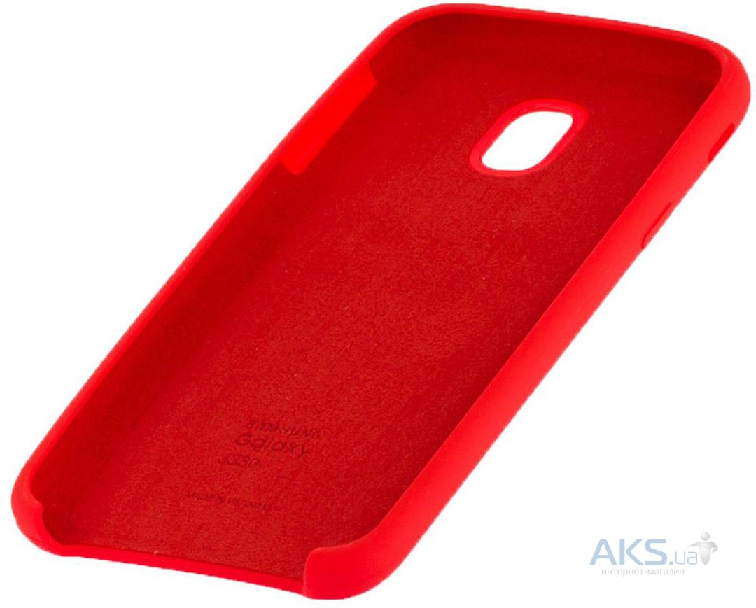 Чехол 1TOUCH silicone case Samsung J330 Galaxy J3 2017 Red - фото 3