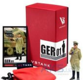 Вид 3 - VSTank 1:24 Military Metal Figure Germam Commander Ger01 (A03102801)