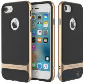 Чехол Rock Royce Series Apple iPhone 7 Black Gold