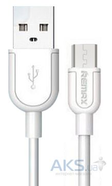 Кабель USB REMAX Souffle microUSB Cable 2M White (RC-031m 2m)