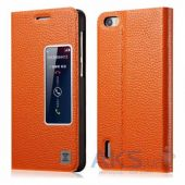 Чехол Xoomz Litchi Pattern Leather для Huawei Honor 6 Orange