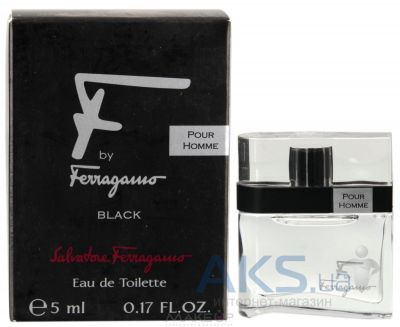 Salvatore Ferragamo Ferragamo F by Homme BLACK Туалетная вода (Мини) 5 мл