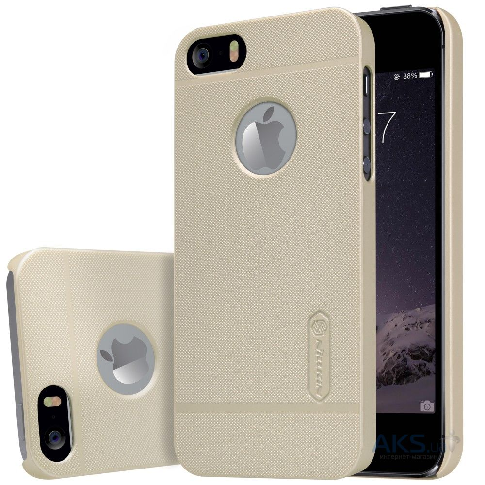 Чехол Nillkin Super Frosted Shield Apple iPhone 5, iPhone 5S, iPhone SE Gold