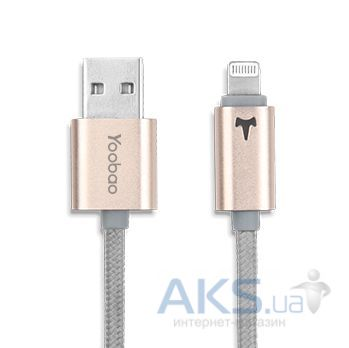 Кабель USB Yoobao Colourful iPhone 5 Reversible cable YB-408 Gold