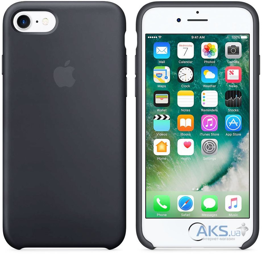 Вид 2 - Чехол Apple Silicone Case iPhone 7, iPhone 8 Space Gray (MMX22_HC)