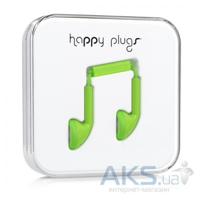 Наушники (гарнитура) Happy Plugs Headphones Earbud Green
