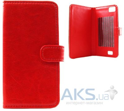 Чехол Book Cover Sticker for Fly IQ4404 Red