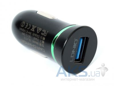 Зарядное устройство LDNio Single USB Car charger 2.1A Black (DL-C12)