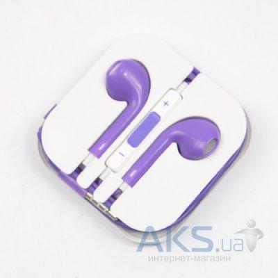 Гарнітура для телефону Apple EarPods HC Purple - купити в Україні! de3689cd94812