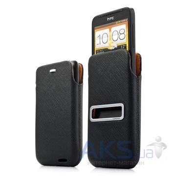 Вид 3 - Чехол Capdase Pocket Luxe  HTC One V T320E Black (DPHCT320E-H217)