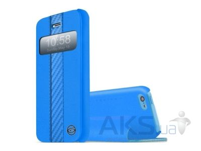 Чехол ITSkins Visionary Drift for iPhone 5C Black/Blue (APNP-VISDR-BKBL)