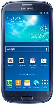 Дисплей (экраны) для телефона Samsung Galaxy S3 Duos I9300i, Galaxy S3 Neo Duos I9301 + Touchscreen with frame Original Blue