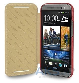 Чехол TETDED Leather Book Series HTC One M8 Red