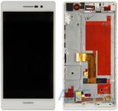 Дисплей (экран) для телефона Huawei Ascend P7 + Touchscreen with frame Original White