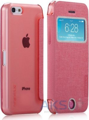 Чехол Momax Flip View case for iPhone 5C Pink