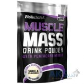 Гейнер BioTech USA Muscle Mass - 1000g ваниль