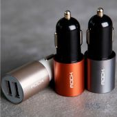 Зарядное устройство Rock Double USB Car Charger 2.1A Rose / Gold