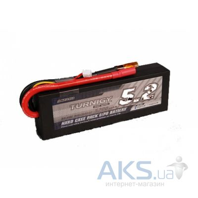 Turnigy Аккумулятор 5200mAh 2S 30C Hard-Case Car Lipo Pack