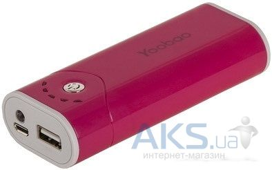 Внешний аккумулятор Yoobao Power Bank 5200 mAh Bright Moon YB-622, [PBYB622-BL] Red