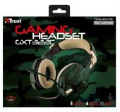 Вид 3 - Наушники (гарнитура) Trust IT TRUST GXT 322C Gaming Headset green camouflage