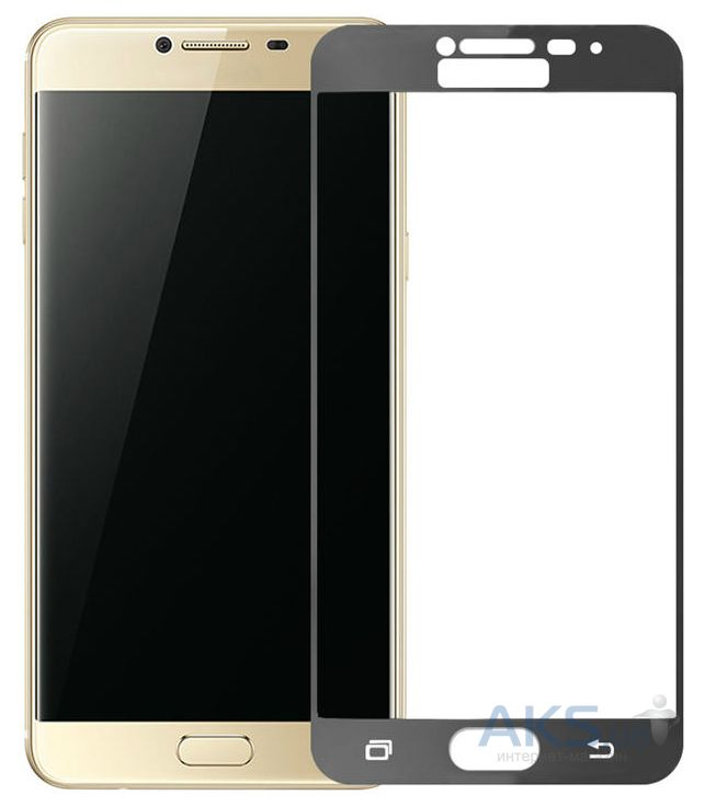 Защитное стекло Tempered Glass 3D Full Cover Samsung C5000 Galaxy C5 Black