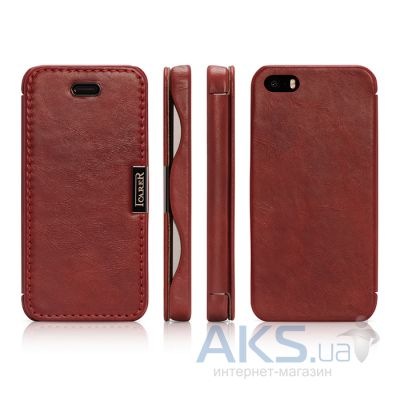 Чехол iCarer Vintage Side-open Apple iPhone 5, iPhone 5S, iPhone 5SE Red