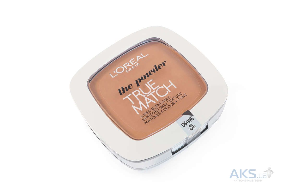 Пудра L'OREAL True Match №D6 Miel Honey
