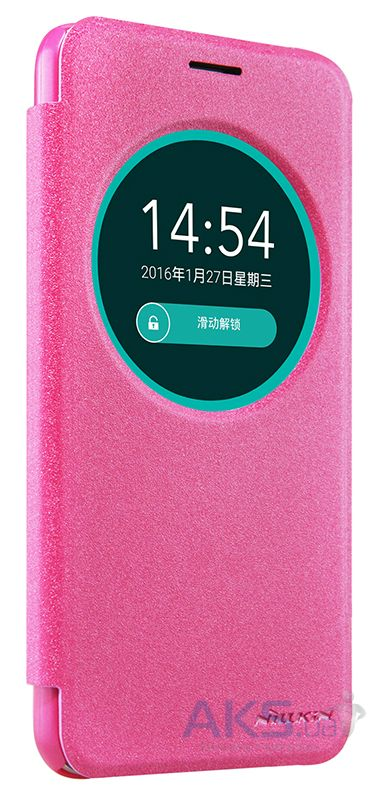 Чехол Nillkin Sparkle Leather Series Asus Zenfone Max ZC550KL Pink