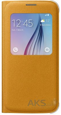 Чехол Samsung S View (Textile) для Galaxy S6 G920 Yellow (EF-CG920BYEGRU)