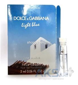 Dolce&Gabbana Light Blue Living Stromboli Pour Homme Туалетная вода (пробник) 2 ml