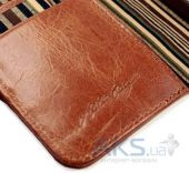 Вид 2 - Чехол Alston Craig Vintage Genuine Leather Wallet Case Cover Apple iPhone 6, iPhone 6S Brown (G10_21)