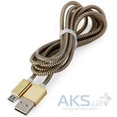 Кабель USB Zinc alloy LED Safe&Charge Lightning Cable Gold