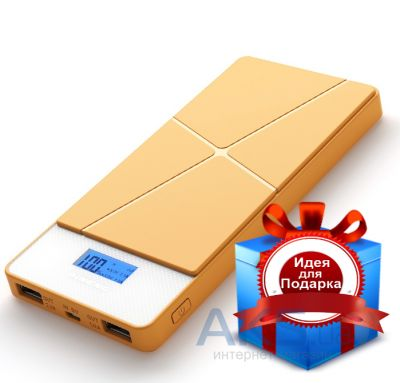 Внешний аккумулятор PINENG Power Bank [PN-983Y],10000 mAh with LCD Yellow