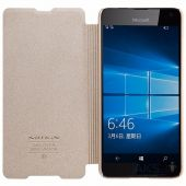 Вид 2 - Чехол Nillkin Sparkle Leather Series Microsoft Lumia 650 Gold