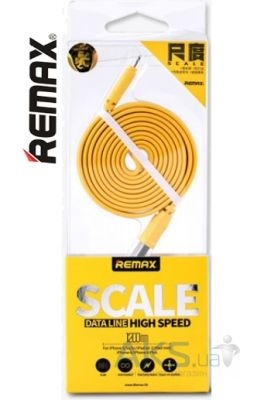 Кабель USB Remax Scale Ruler Lightning Cable Yellow