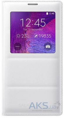 Чехол Samsung S View Cover N910H Galaxy Note 4 White (EF-CN910BWEGWW)