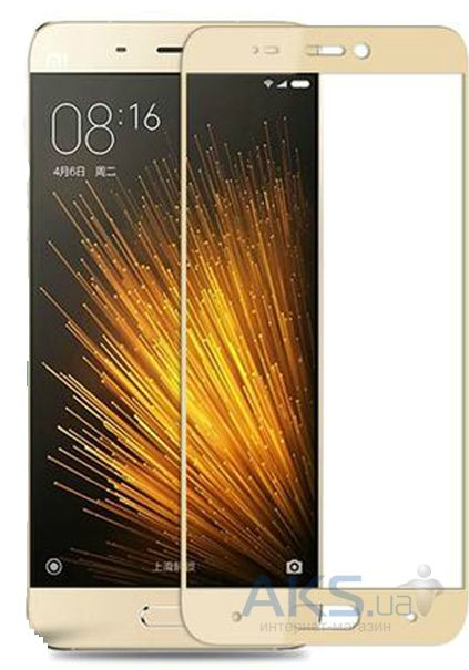 Защитное стекло Tempered Glass 3D Full Cover Xiaomi Mi5 Gold