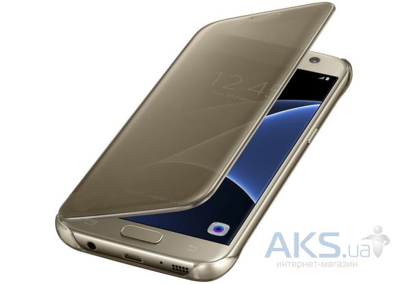 Чехол Samsung Clear View Cover Series G930 Galaxy S7 Gold (EF-ZG930CFEGRU)