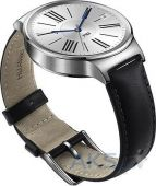 Вид 2 - Умные часы Huawei Watch Silver (Stainless Steel with Black Leather Strap)