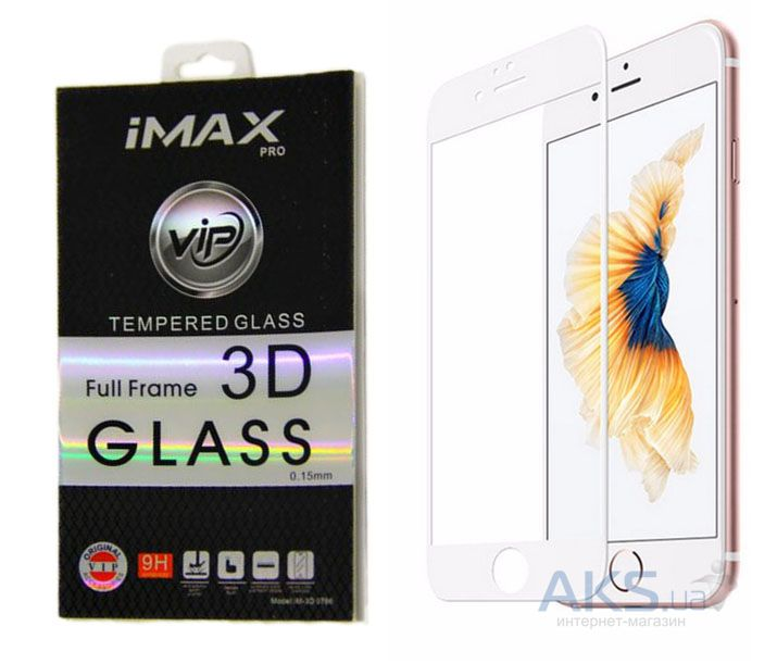 Защитное стекло IMAX Curved 3D Full Frame Apple iPhone 7 Plus, iPhone 8 Plus White