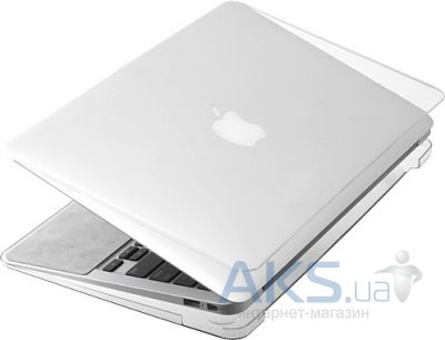Чехол Kuzy Rubberized Plastic Case for MacBook Air 11 Clear